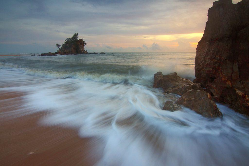 Море, остров, вода
