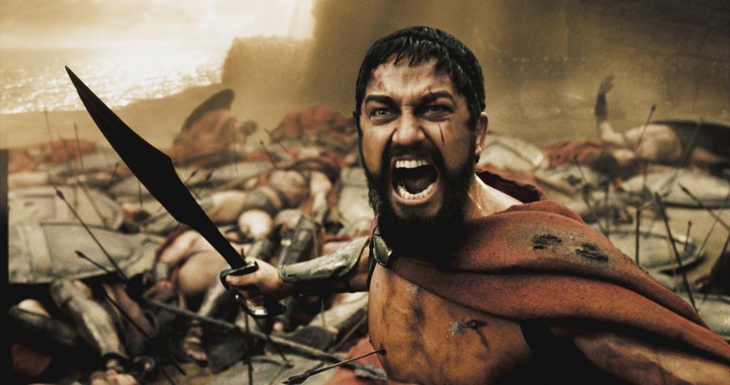Царь Леонид, 300 спартанцев