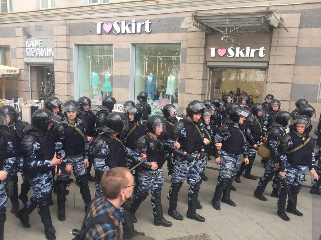12 июня Тверскую оккупировали сторонники оппозиции