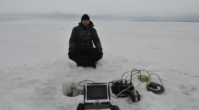 Во время работы на Ладожском озере