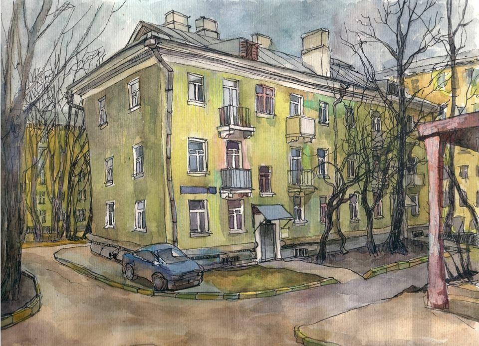 Акварель Анны Виноградовой