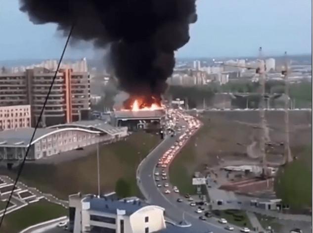 Кемерово накрыл дым большого пожара